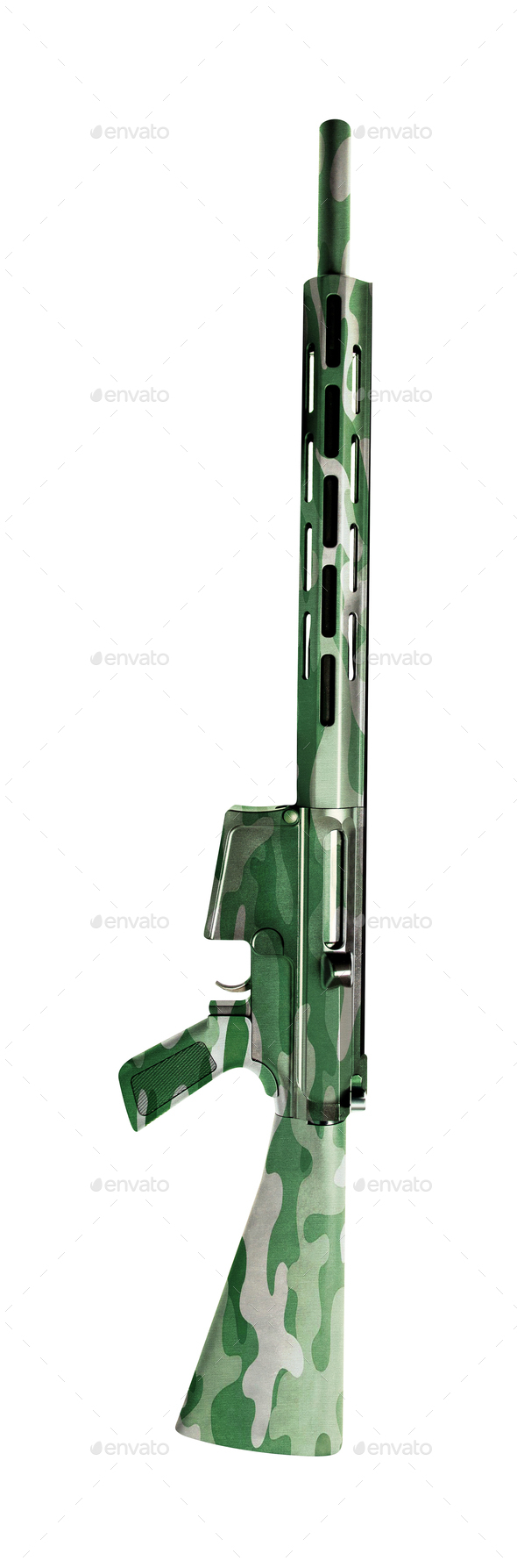 Machine Gun isolated on white - Stock Photo - Images