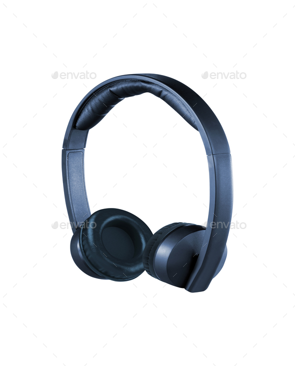 headphones isolated - Stock Photo - Images