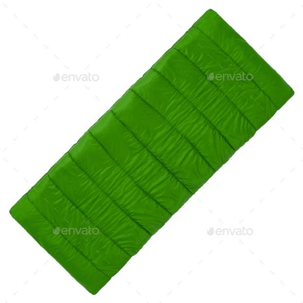 Sleeping bag, isolated on white - Stock Photo - Images