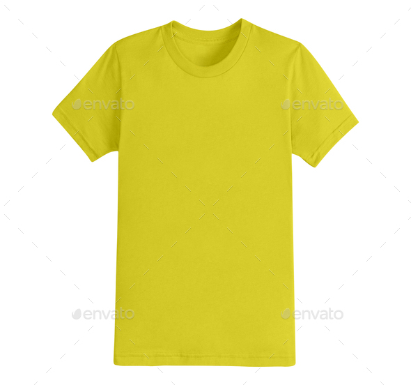 Yellow T-Shirt isolated - Stock Photo - Images