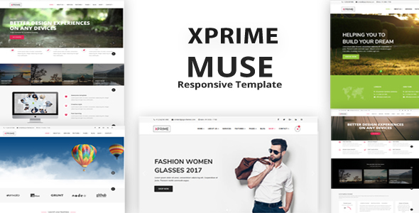 Xprime - Muse Multipurpose template - Muse Templates