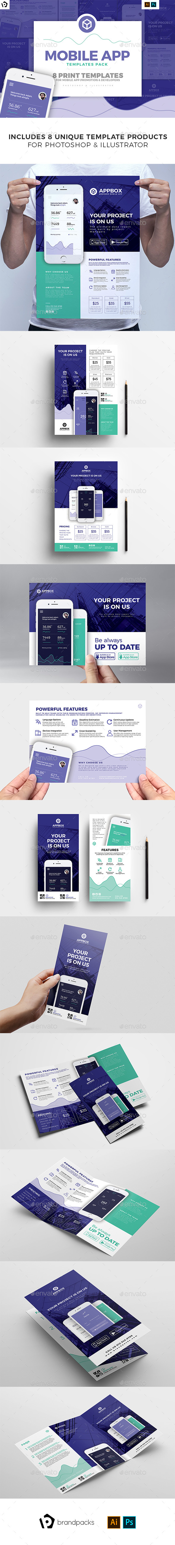 Mobile App Templates Bundle - Corporate Flyers