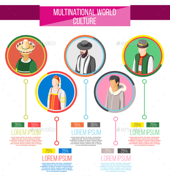 Multinational World Culture Infographics - Business Conceptual