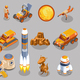Space Exploration Isometric Icons