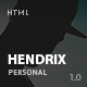Hendrix - Personal Portfolio HTML Template - ThemeForest Item for Sale