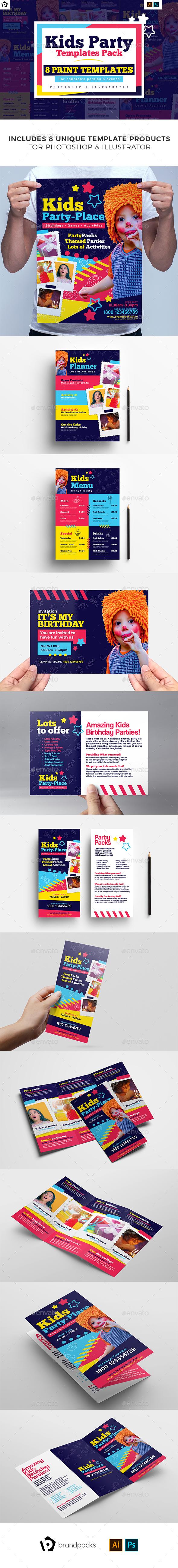 Kid's Party Templates Bundle - Clubs & Parties Events