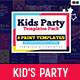 Kid's Party Templates Bundle