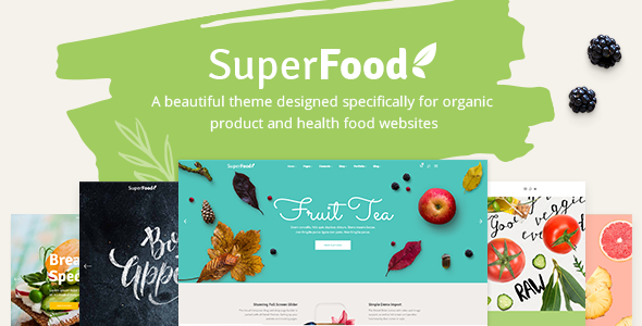Superfood - A Vibrant Theme for Organic Food and Health Products - Food Retail
