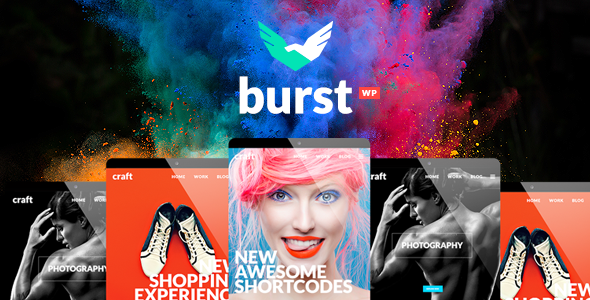 Burst - A Bold and Vibrant WordPress Theme - Creative WordPress