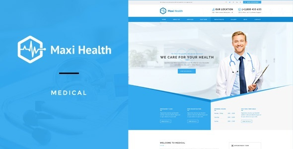 Maxi Health : Medical & Health Joomla Template - Business Corporate