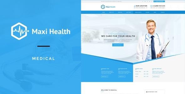 Image of Maxi Health : Medical & Health Joomla Template