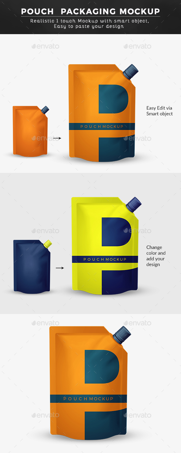 Pouch Packaging Mock up - Food and Drink Packaging