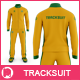 Men's Tracksuit Stand Collar Mock up