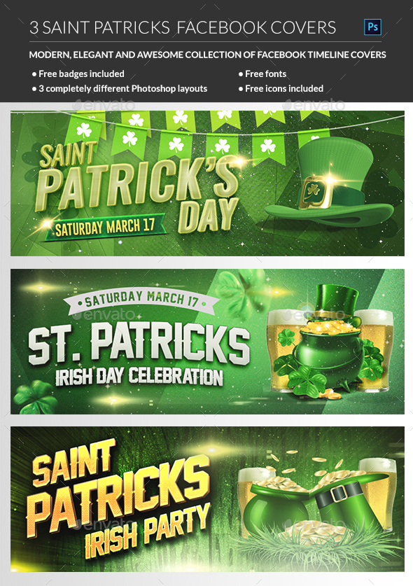 Saint Patrick Facebook Cover - Facebook Timeline Covers Social Media