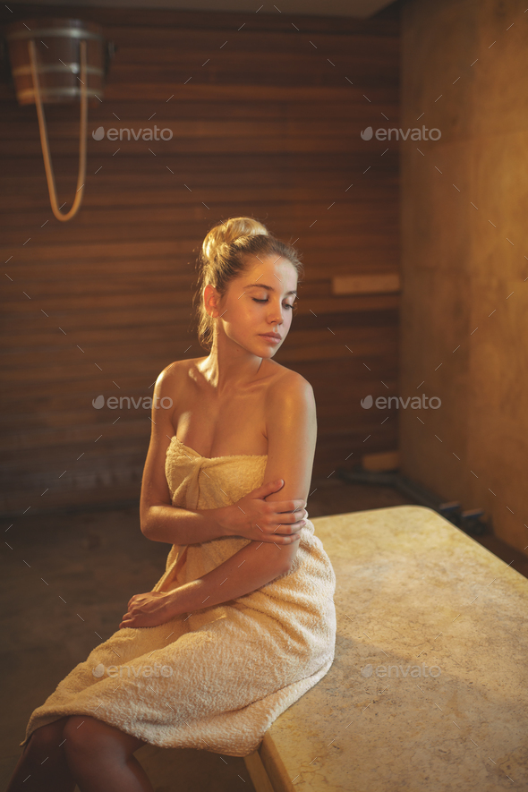 Relaxion woman indoors - Stock Photo - Images