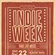Indie Week Flyer - GraphicRiver Item for Sale