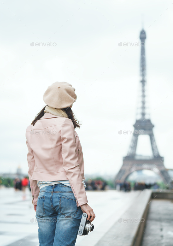 Young photographer on vacation - Stock Photo - Images