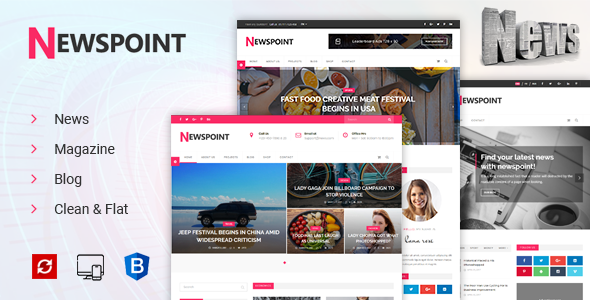 Image of Newspoint - News, Magazine & Blogging HTML Template