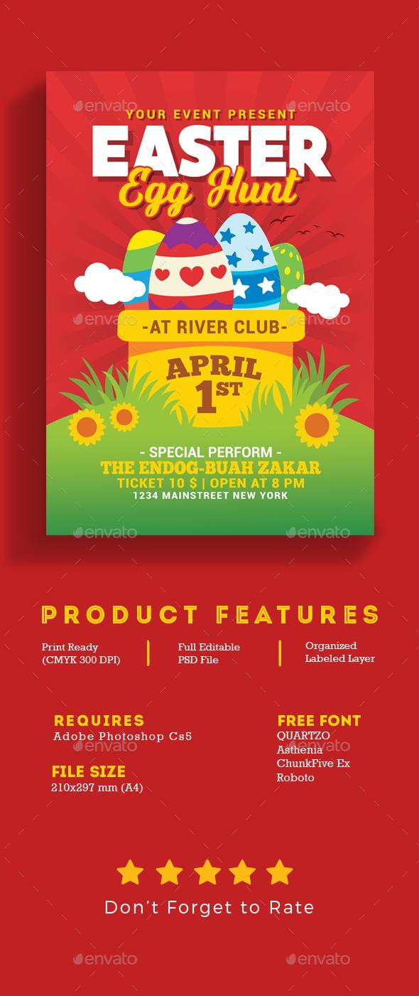 Easter Egg Hunt Flyer - Events Flyers