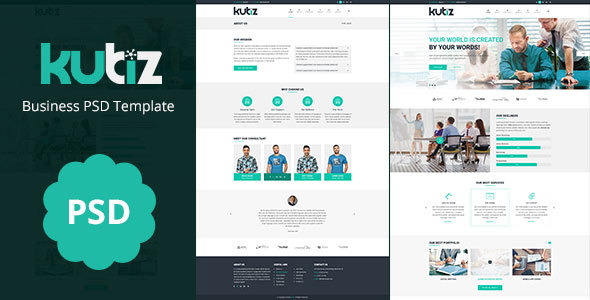 kubiz : Business / Finance PSD Template - Business Corporate