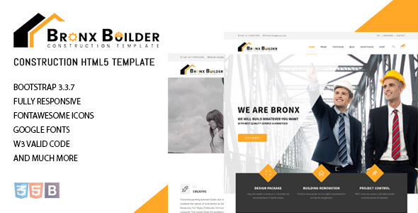 Image of Bronx - Construction Website Template