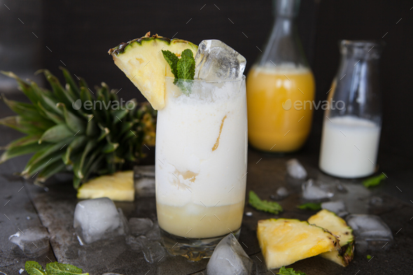 Pina Colada Cocktail - Stock Photo - Images