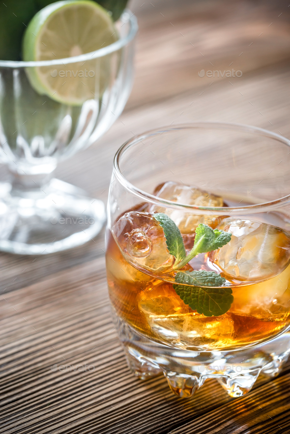 Glass of rum - Stock Photo - Images