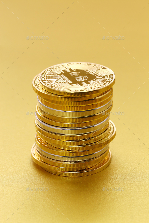 virtual currency, cryptocurrency - Stock Photo - Images