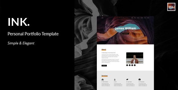 Image of INK - Personal Portfolio Template