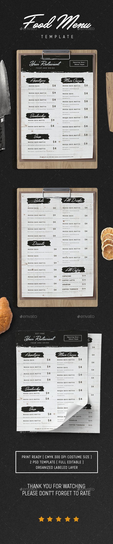 Food Menu vol.6 - Flyers Print Templates