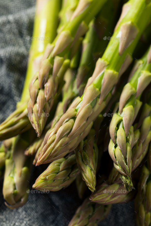 Healthy Organic Green Asparagus Stalks - Stock Photo - Images