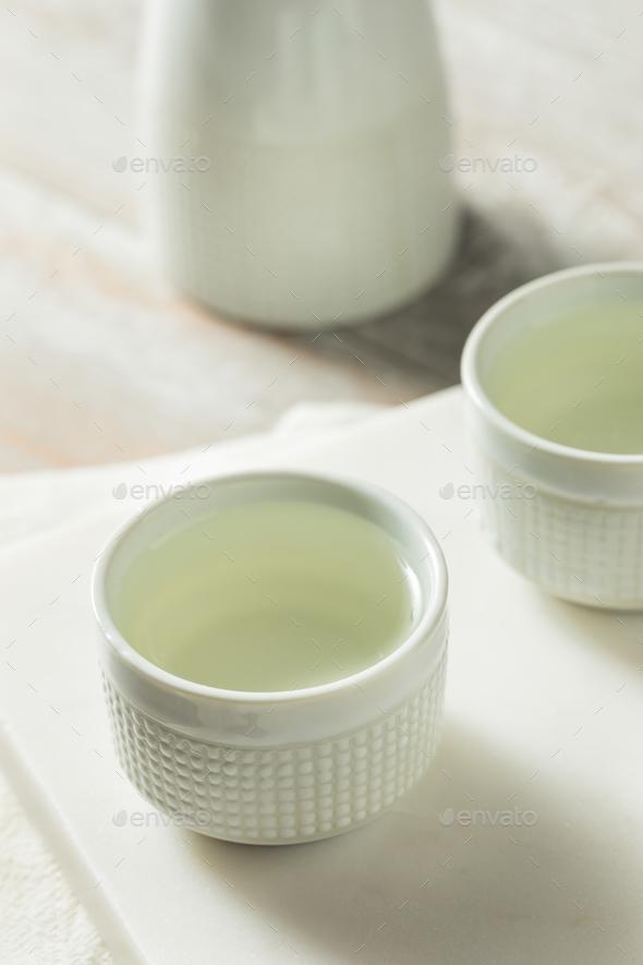 Alcoholic Japanese Sake Rice Wine - Stock Photo - Images
