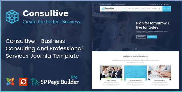 Image of Consultive - Business Consulting and Professional Services Joomla Template