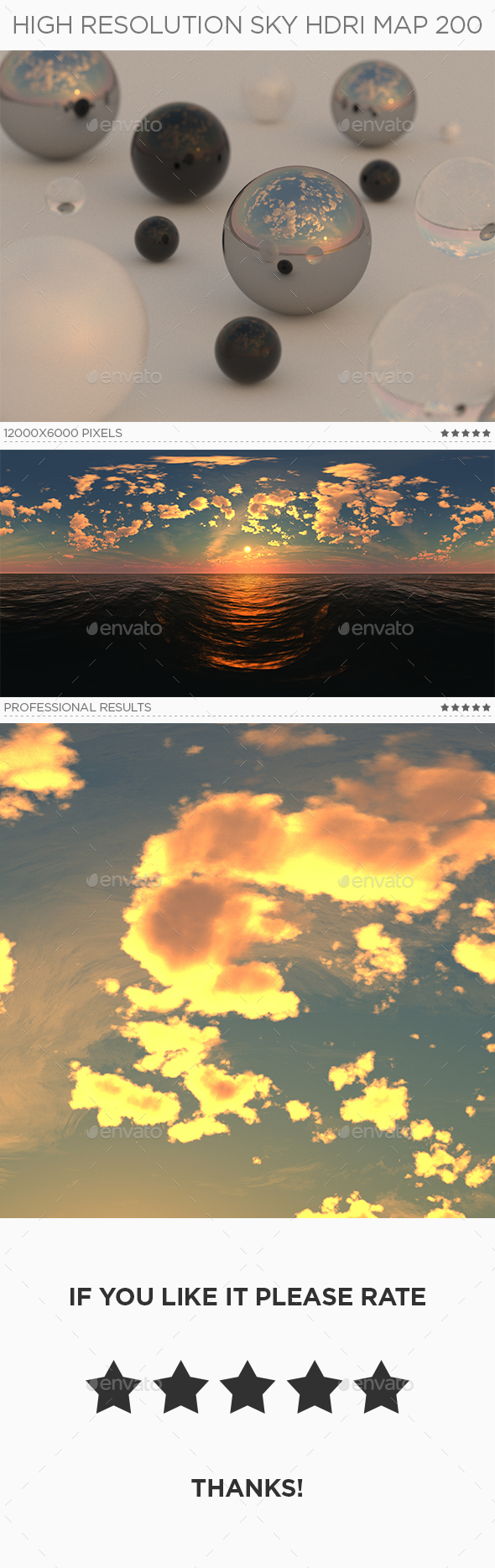 High Resolution Sky HDRi Map 200 - 3DOcean Item for Sale