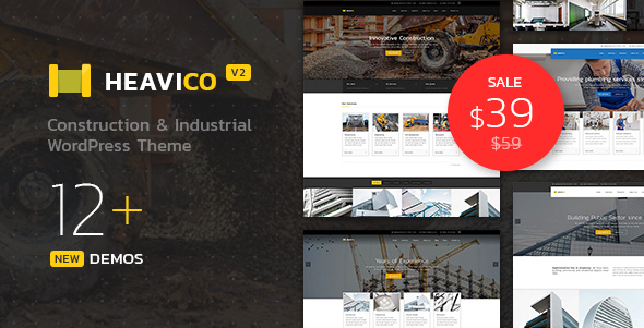 Heavico - Construction & Industrial WordPress Theme - Business Corporate