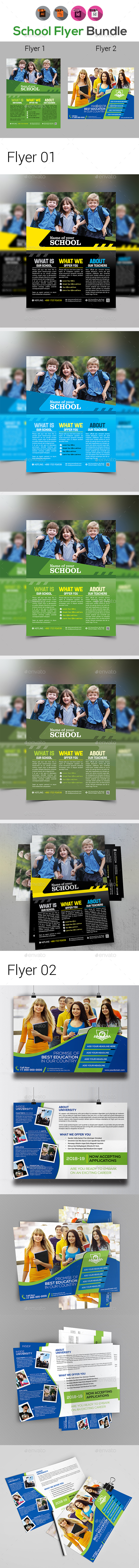 School Flyer Bundle Templates - Corporate Flyers