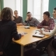 Female Teacher Talks with Students During a Lesson at University - VideoHive Item for Sale