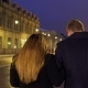 Young Couple Walks on the Night Urban Illuminated Street - VideoHive Item for Sale