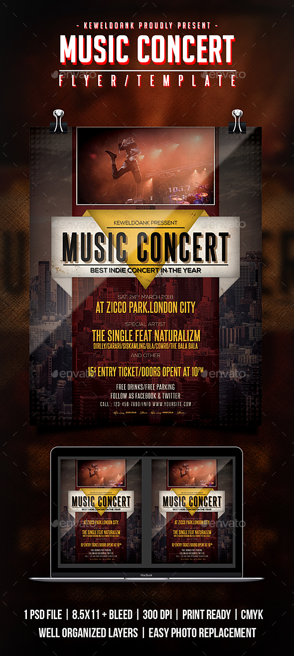Music Concert Flyer / Poster - Concerts Events