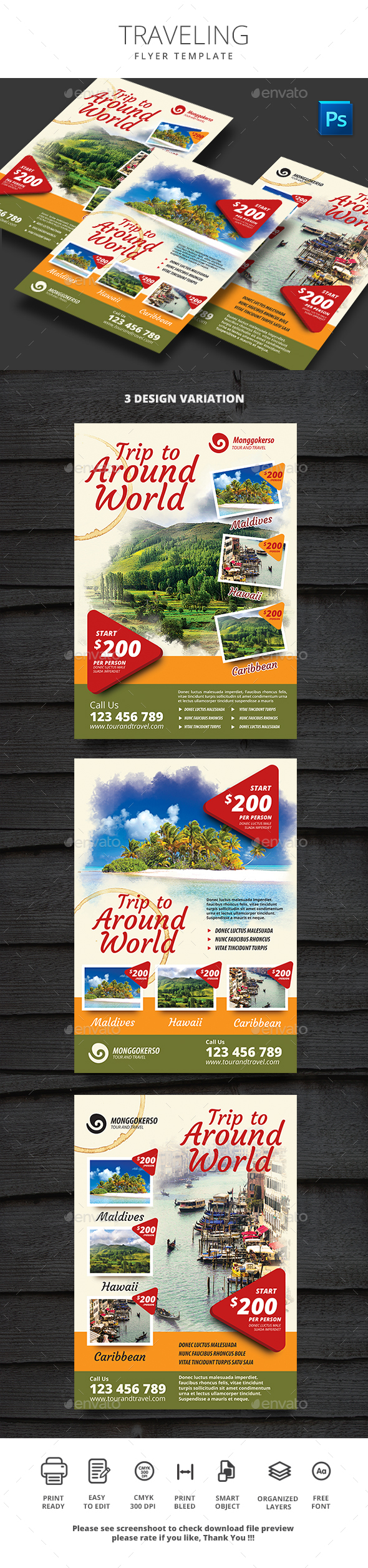 Traveling - Flyers Print Templates