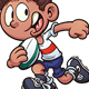 Cartoon Kids playing Rugby - GraphicRiver Item for Sale