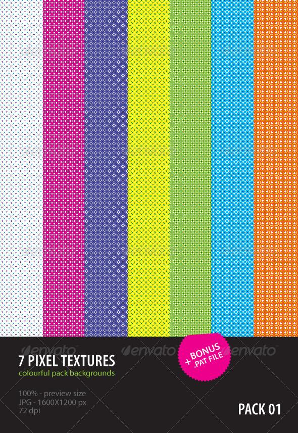 7 Pixel Textures - Abstract Textures