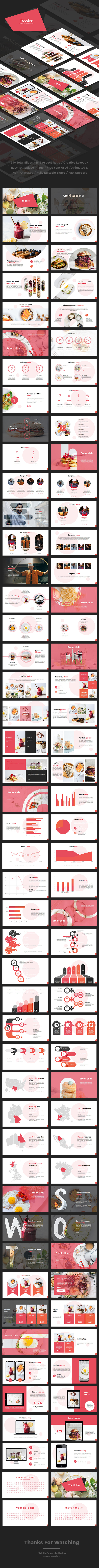 Foodie - Food And Restaurant Google Slides Template - Google Slides Presentation Templates