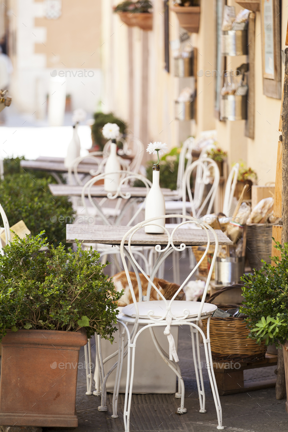 Terrace in Tuscany - Stock Photo - Images