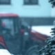Tractor and Road Workers at Snow Removal Work on a Street - VideoHive Item for Sale