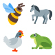 Animal & Birds Icons - GraphicRiver Item for Sale