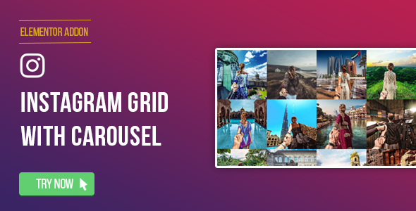 Elementor Page Builder - Instagram Social Stream Grid With Carousel - CodeCanyon Item for Sale