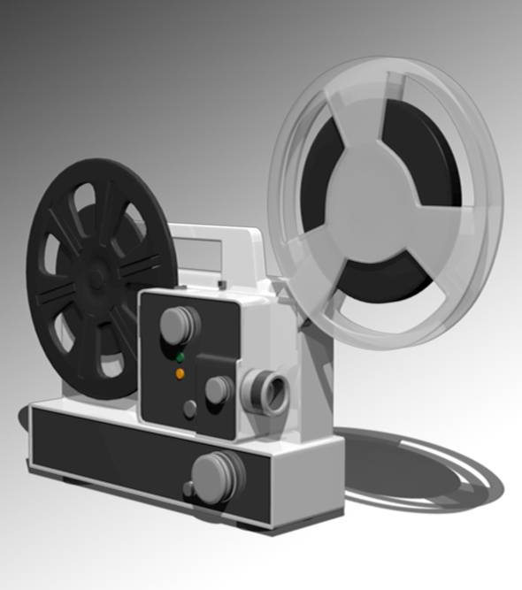 cinema projector - 3DOcean Item for Sale
