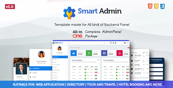 Image of Admin Panel - Bootstrap | Material Admin Template
