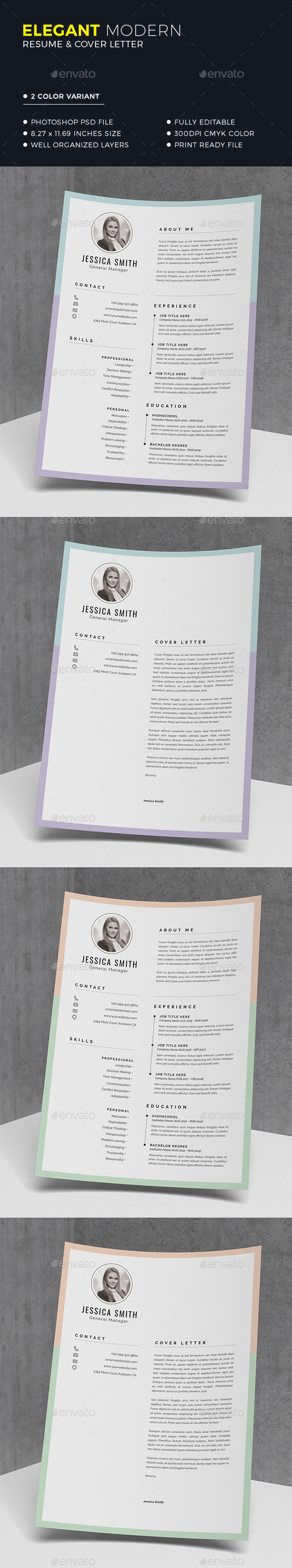 Clean Resume Template - Resumes Stationery
